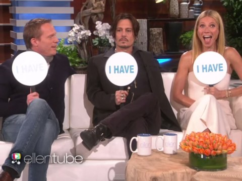 Got something to tell us chaps? Johnny Depp and Gwyneth Paltrow make some saucy confessions while playing Never Have I Ever