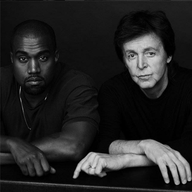 Kanye West and some guy called Paul.