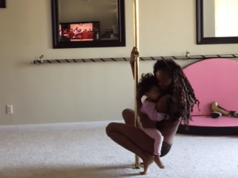 Pole dancer Ashley Wright is under attack for dancing in front of her daughter
