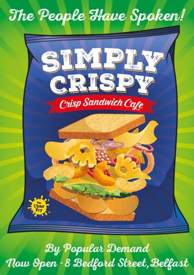 Simpy Crispy crisp sandwich cafe is opening in Belfast