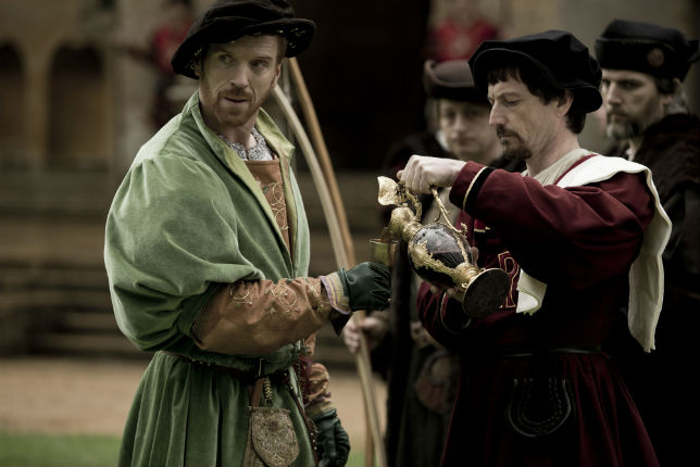 Wolf Hall BBC WEEK: 04 Episode: Ep2, No. 2 Channels: BBC Two Picture Shows: King Henry VIII (DAMIAN LEWIS), Thomas Cromwell (MARK RYLANCE)