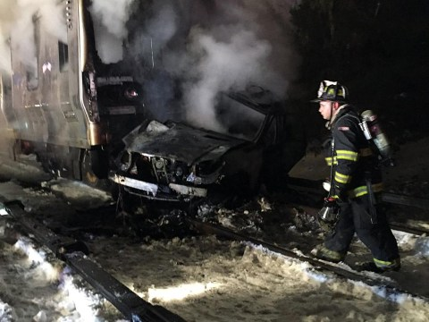New York train crash kills seven after commuter metro hits car