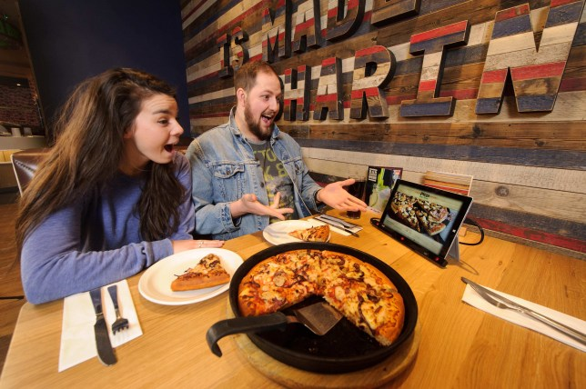 Guests at the reopened Strand branch were able to test out the new menu (Picture Pizza Hut)