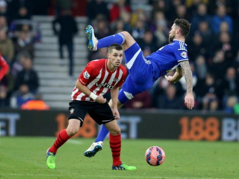Southampton's Morgan Schneiderlin had a lucky escape avoiding Tottenham Hotspur