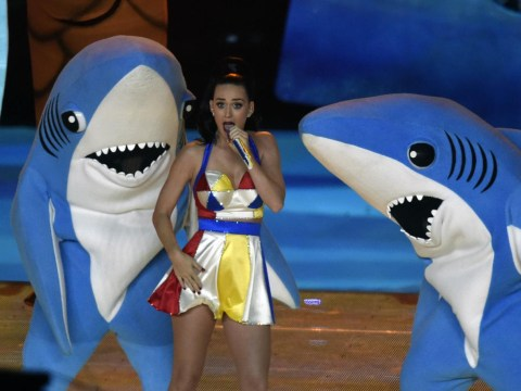 Katy Perry twerks on Lenny Kravitz and enlists help of dancing sharks and Missy Elliott for Super Bowl halftime performance