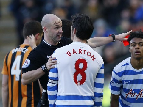 Dismissed QPR captain Joey Barton says sorry for hitting Tom Huddleston in the nuts, claims he was protecting a team-mate
