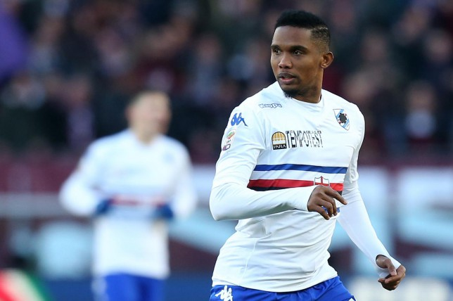 Samuel Eto'o already facing shock Sampdoria exit after training ground bust-up