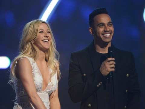 Brit Awards 2015: Ellie Goulding laughs off awkward 'bants' with Lewis Hamilton, insisting all planned