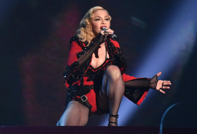 Madonna performs at the 57th annual Grammy Awards on Sunday, Feb. 8, 2015, in Los Angeles. (Photo by John Shearer/Invision/AP) John Shearer/Invision/AP