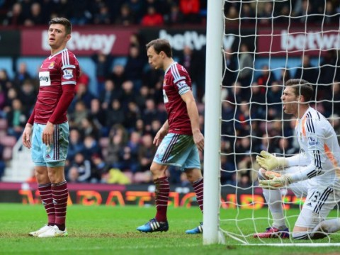 West Ham concede horror goal against Crystal Palace after Aaron Cresswell's clearance lands in own net