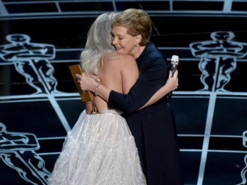 Oscars 2015: Lady Gaga and Julie Andrews share adorable hug after Sound Of Music tribute