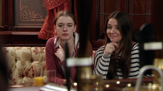 Amy James-Kelly and Brooke Vincent in Coronation Street