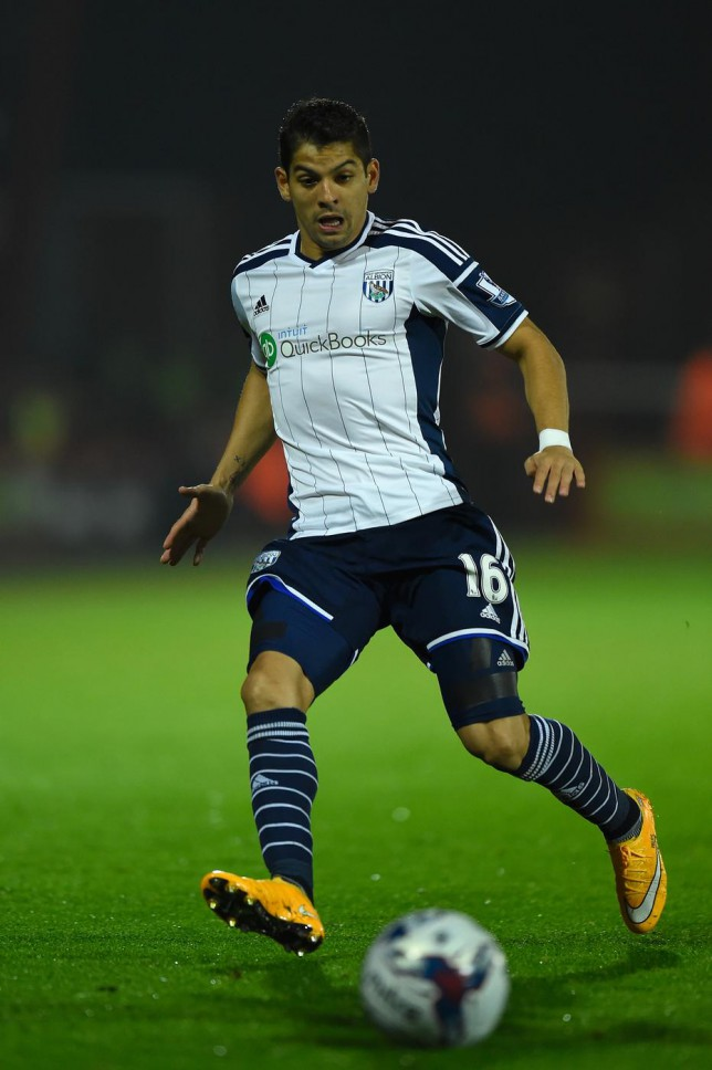 Christian Gamboa should be in the West Brom line up to face Swansea City