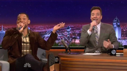 Will Smith raps with Jimmy Fallon on The Tonight Show