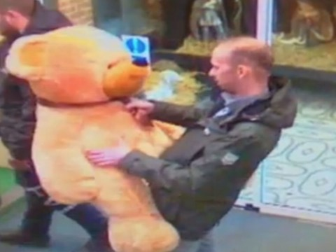 Teddy thief reveals his soft side as he returns it to charity