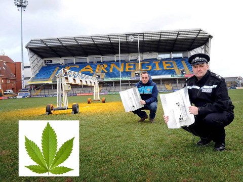 Rugby League team given seized cannabis factory lights to help pitch grow