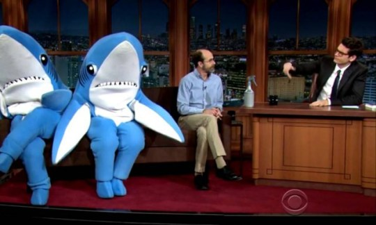 Left Shark and Right Shark on The Late Late Show