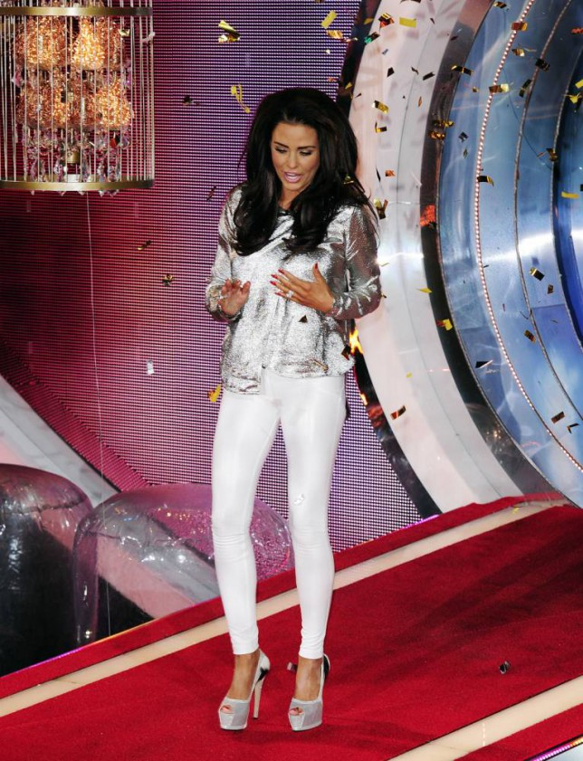 7 Feb 2015 - LONDON - UK  KATIE PRICE AKA JORDAN WINS THE CELEBRITY BIG BROTHER FINAL 2015. BYLINE MUST READ : XPOSUREPHOTOS.COM  ***UK CLIENTS - PICTURES CONTAINING CHILDREN PLEASE PIXELATE FACE PRIOR TO PUBLICATION ***  **UK CLIENTS MUST CALL PRIOR TO TV OR ONLINE USAGE PLEASE TELEPHONE   44 208 344 2007 **