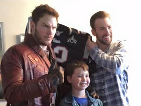 Chris Pratt visits a children's hospital dressed as Star Lord, makes good on Super Bowl bet