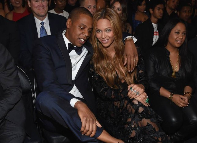 LOS ANGELES, CA - FEBRUARY 08: Recording Artists Jay Z and Beyonce attend The 57th Annual GRAMMY Awards at the STAPLES Center on February 8, 2015 in Los Angeles, California.  (Photo by Larry Busacca/Getty Images for NARAS)