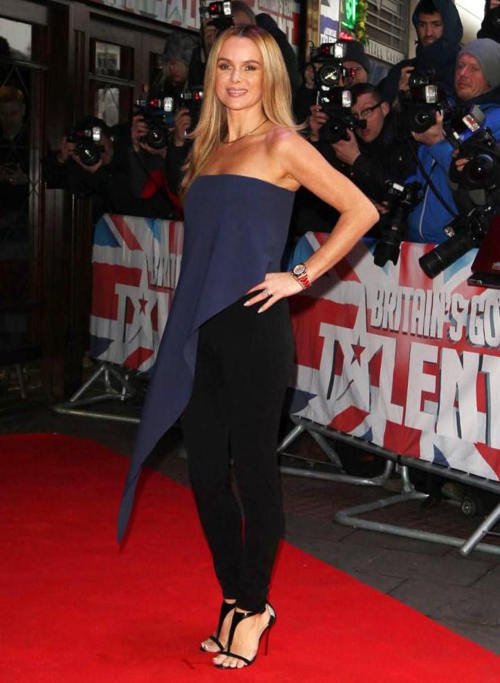 Mandatory Credit: Photo by Beretta/Sims/REX (4428178l)  Amanda Holden  'Britain's Got Talent' TV show auditions, Dominion Theatre, London, Britain - 11 Feb 2015