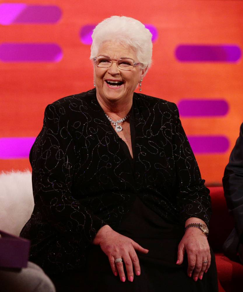 Guest Pam St Clement during filming of a special episode of the Graham Norton Show to celebrate 30 years of EastEnders, at the London Studios, south London, which will be aired on Monday 16th February. PRESS ASSOCIATION Photo. Picture date: Sunday February 8, 2015. See PA story SHOWBIZ EastEnders. Photo credit should read: Yui Mok/PA Wire