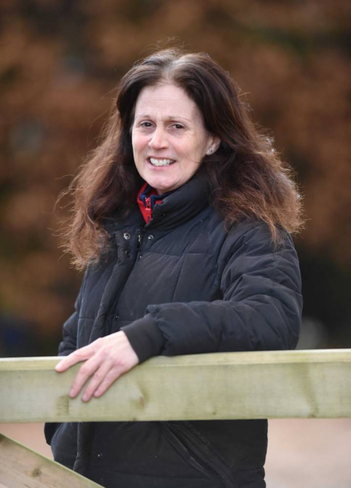 """Copyright Albanpix.com. Pic by Rob Howarth Tracey Wright pictured at her home in Wickhambrook, Suffolk.Tracy is the ex wife of millionaire racehorse surgeon Ian Wright. Lord Justice Pitchford at a settlement hearing told Tracey to """"Get a job"""""""