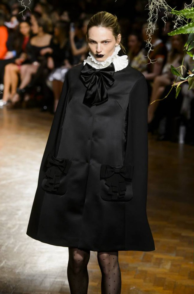 Model Andreja Pejic makes debut for Giles at London Fashion Week after undergoing gender reassignment