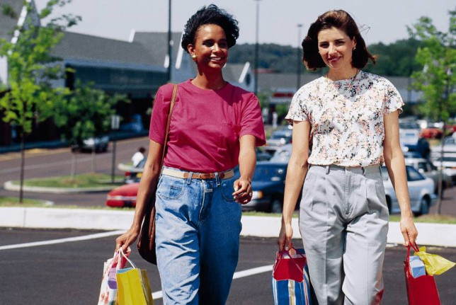 Two girls go shopping in 90s clothes