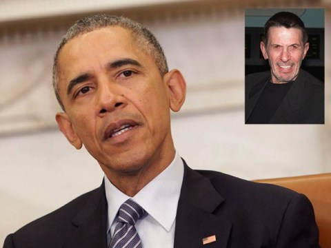 'I loved Spock': President Obama is as devastated as anyone at Leonard Nimoy's death