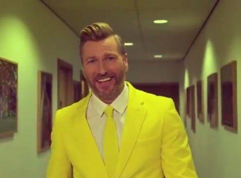 Robbie Savage dons yellow suit in BT Sport's transfer deadline day parody advert of rivals Sky Sports News
