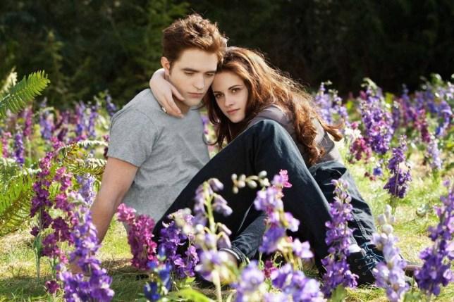 Film: Twilight Saga: Breaking Dawn (2011), Starring Kristen Stewart as Bella Swan and Robert Pattinson as Edward Cullen.