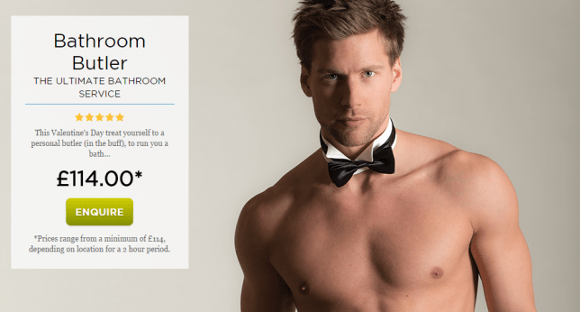 Bathrooms.com have teamed up with Butlers in the Buff this Valentine's Day