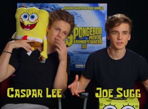 Caspar Lee and Joe Sugg land mega roles in The Spongebob Movie: Sponge Out Of Water