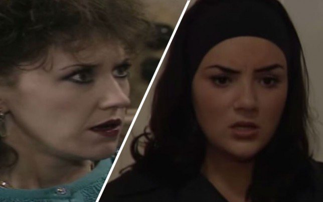 Tiffany Mitchell and Angie Watts in EastEnders