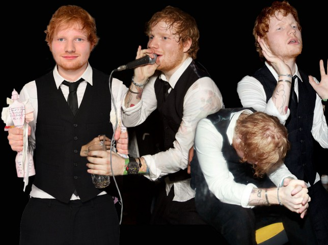 Ed Sheeran looked like he really enjoyed himself after the Brits last night…