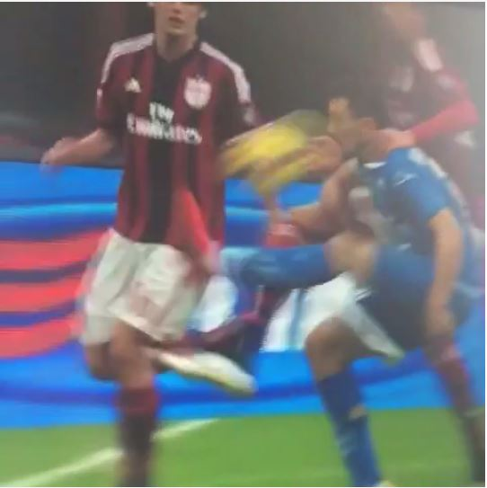 Mario Rui kicks ball into his own face – and WINS Empoil a free-kick during draw at AC Milan