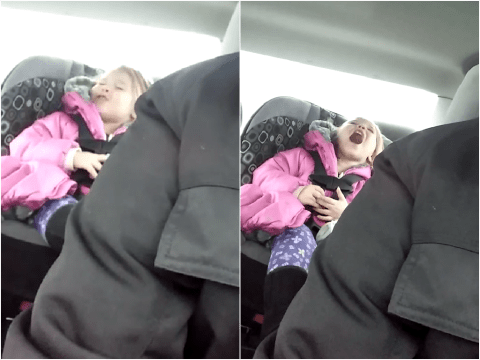 Dad winds up his daughter by singing the wrong lyrics to Frozen songs