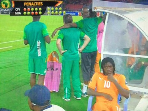 Former Arsenal star Gervinho refuses to watch African Nations Cup penalty shootout, sits on plastic chair instead