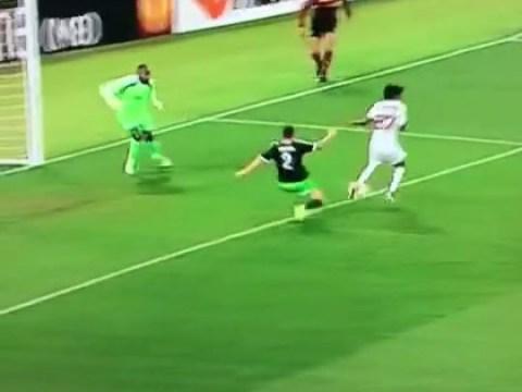 Ex-Arsenal forward Gervinho scores stunning backheel flick goal in Roma's 1-1 Europa League draw v Feyenoord