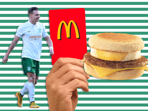 Hibernian star Jason Cummings dumped from squad after throwing McMuffins at McDonald's staff