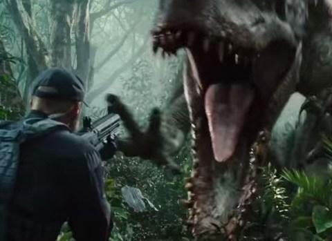 Chris Pratt and stampeding dinosaurs, oh my: New Jurassic World film trailer premieres during Super Bowl