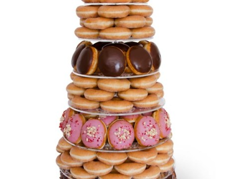 Who wants a wedding cake when you can have a Krispy Kreme deluxe doughnut tower?