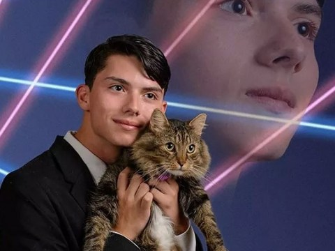 'Laser cat' yearbook photo teen takes his own life