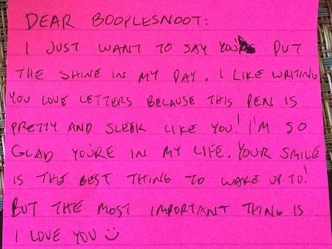 Love note is a secret code for anal sex that his girlfriend might not appreciate