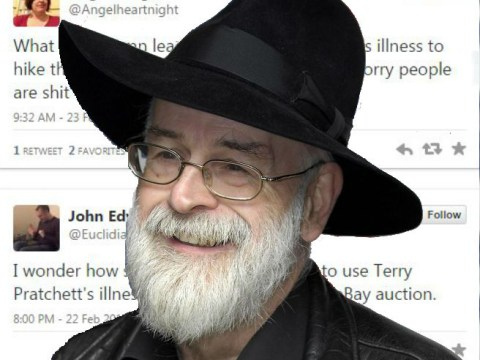 eBay seller tries to capitalise on Terry Pratchett's Alzheimer's
