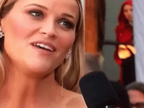 Why the hell was Red Riding Hood lurking behind Reese Witherspoon at the Oscars?