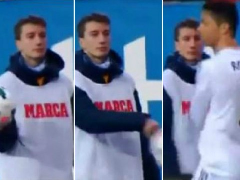 Real Madrid's Cristiano Ronaldo gets completely owned by Atletico Madrid ball-boy