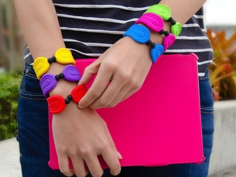 Remember snap bracelets? Well the snap bracelet 2.0 doubles as a stylus