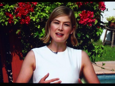 Rosamund Pike finally wins best actress award for Gone Girl: 'I've become so accomplished at losing I have no idea what to say'